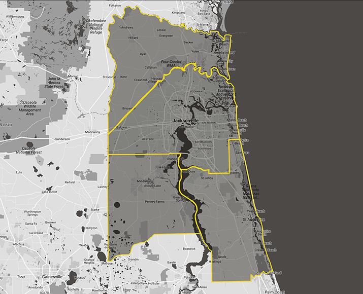 Jacksonville, FL - Map