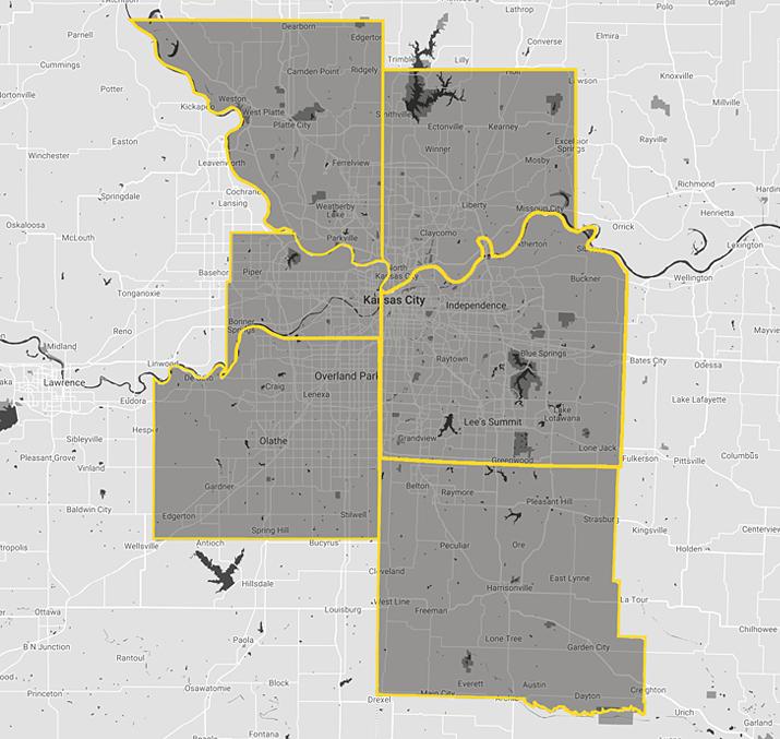 Kansas City - Map